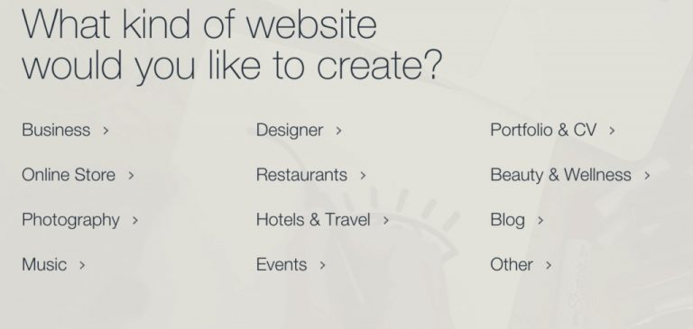 Building a business website with WIX